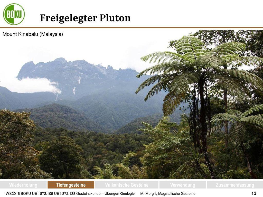 Freigelegter Pluton Mount Kinabalu (Malaysia) Wiederholung