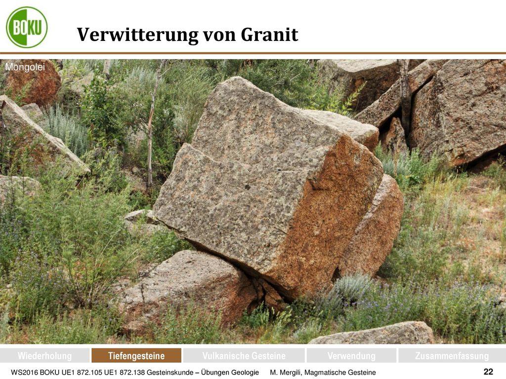 Verwitterung von Granit
