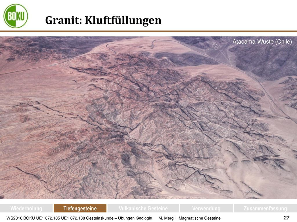 Granit: Kluftfüllungen
