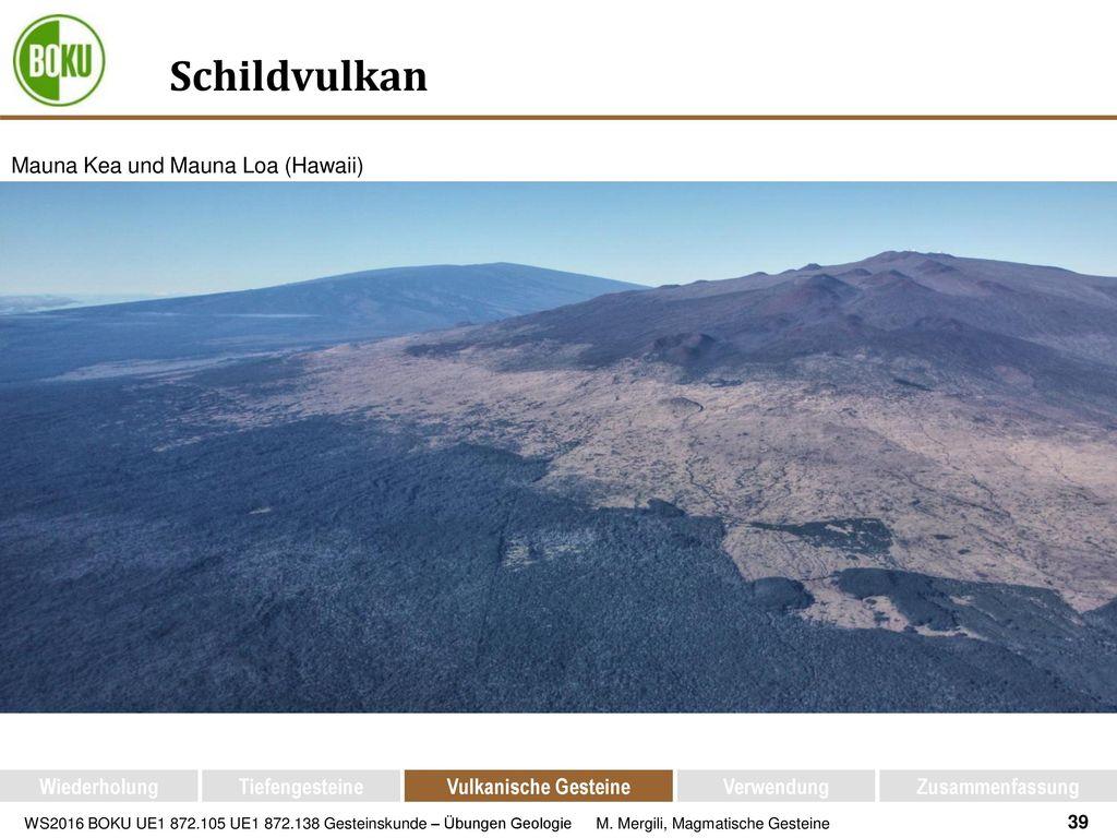 Schildvulkan Mauna Kea und Mauna Loa (Hawaii) Wiederholung