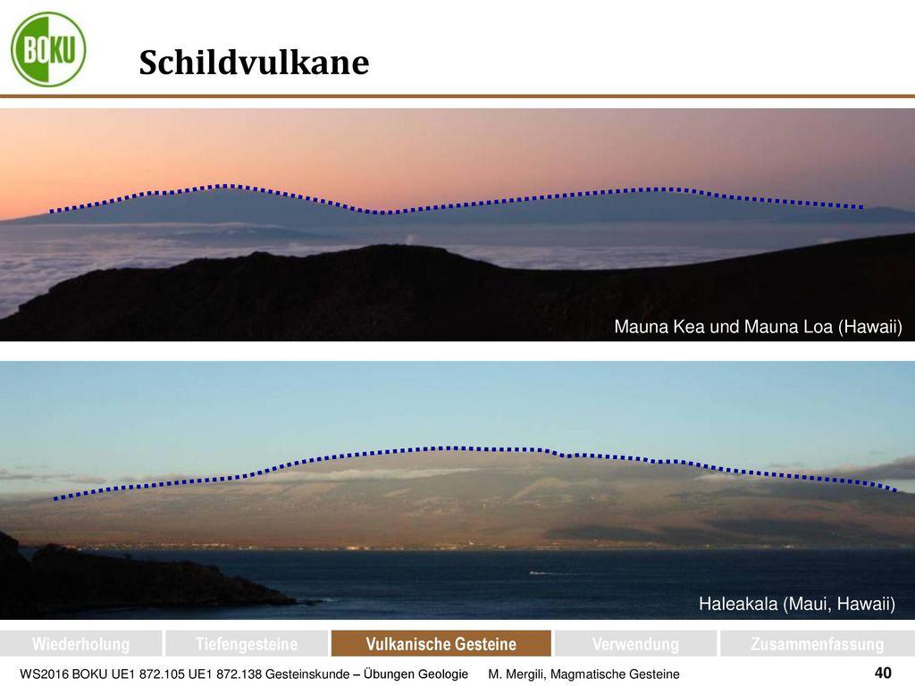 Schildvulkane Mauna Kea und Mauna Loa (Hawaii)
