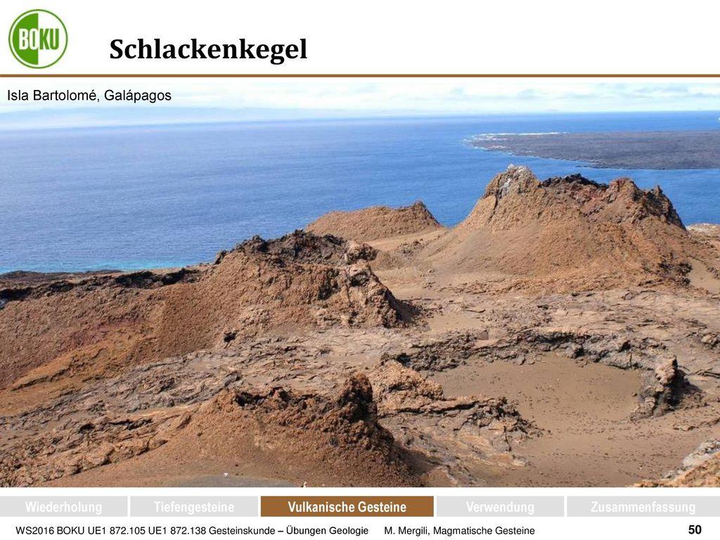 Schlackenkegel Isla Bartolomé, Galápagos Wiederholung Tiefengesteine