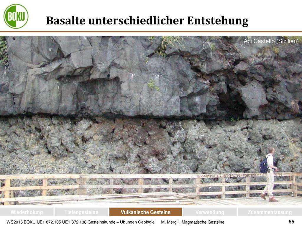 Basalte unterschiedlicher Entstehung