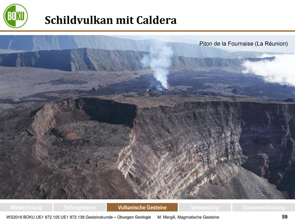 Schildvulkan mit Caldera