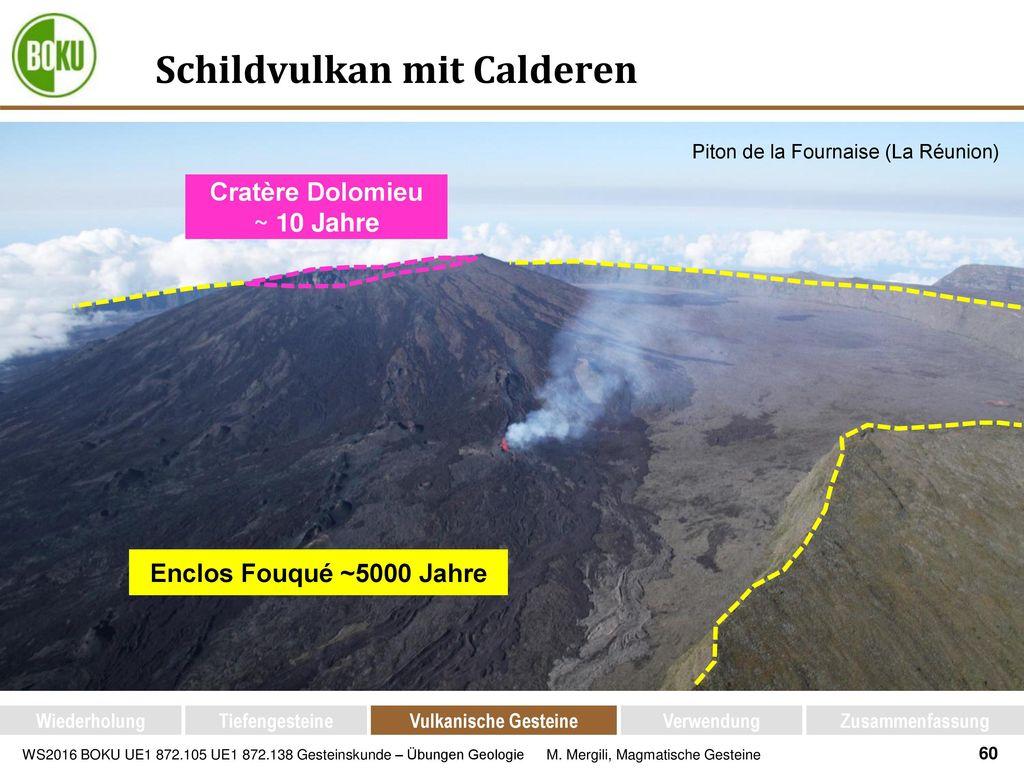 Schildvulkan mit Calderen
