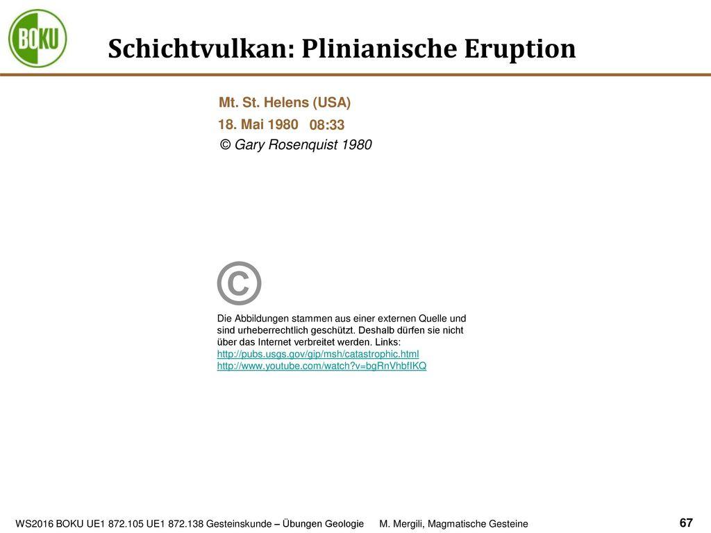 Schichtvulkan: Plinianische Eruption