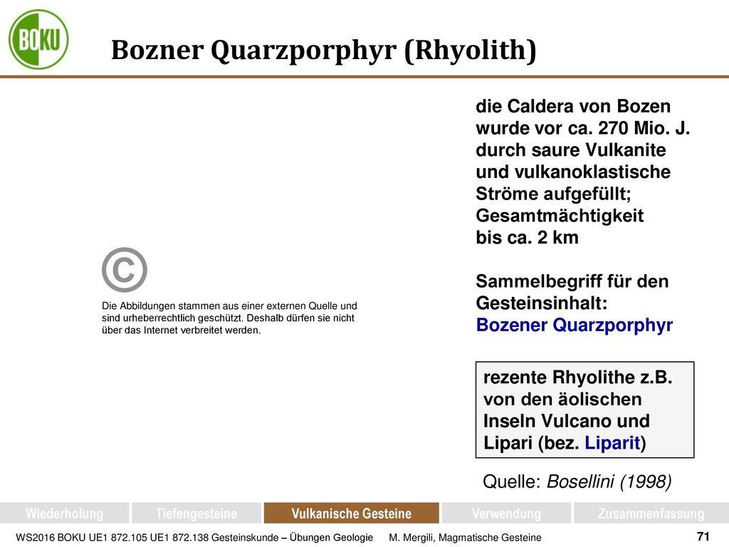 Bozner Quarzporphyr (Rhyolith)