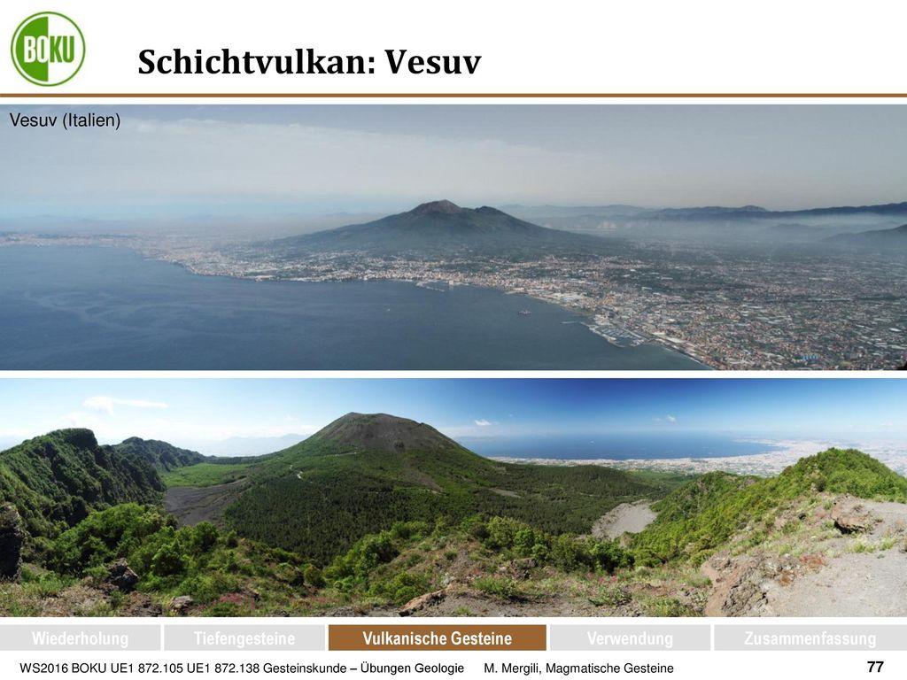 Schichtvulkan: Vesuv Vesuv (Italien) Wiederholung Tiefengesteine