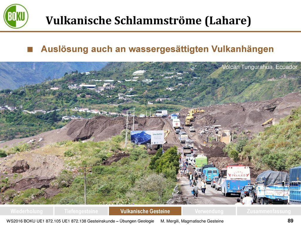 Vulkanische Schlammströme (Lahare)