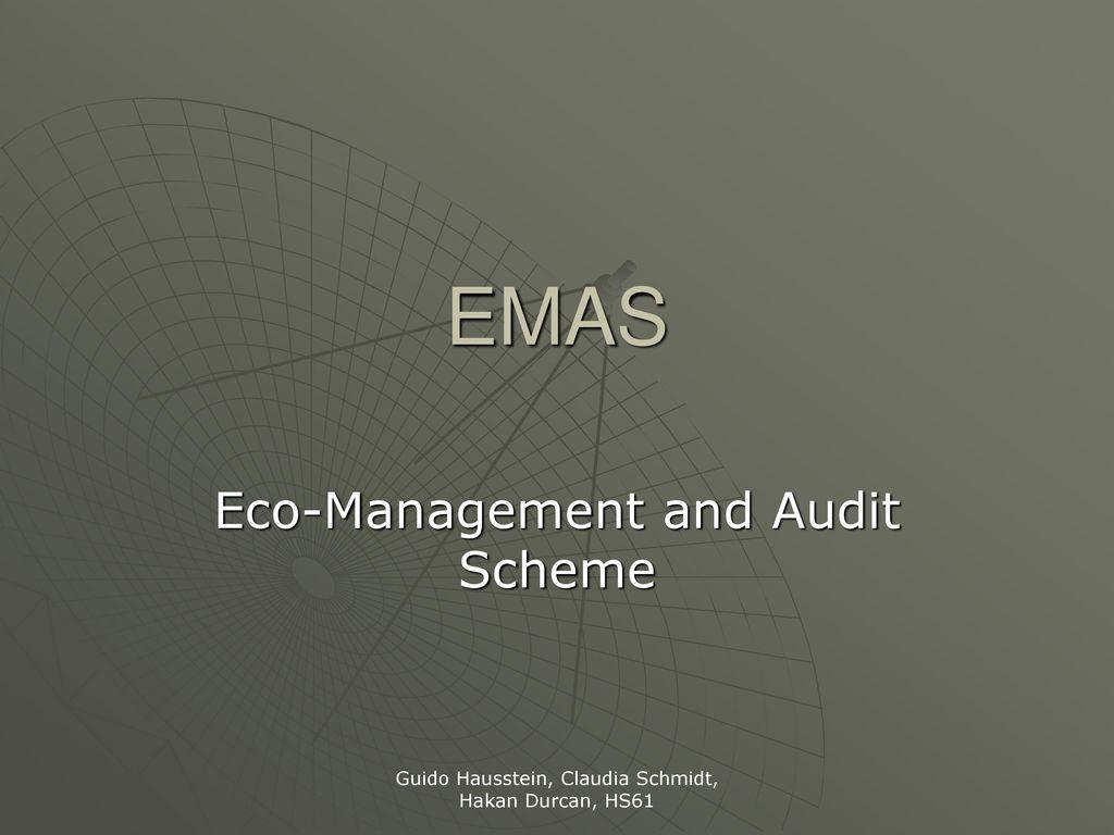 Eco-Management and Audit Scheme