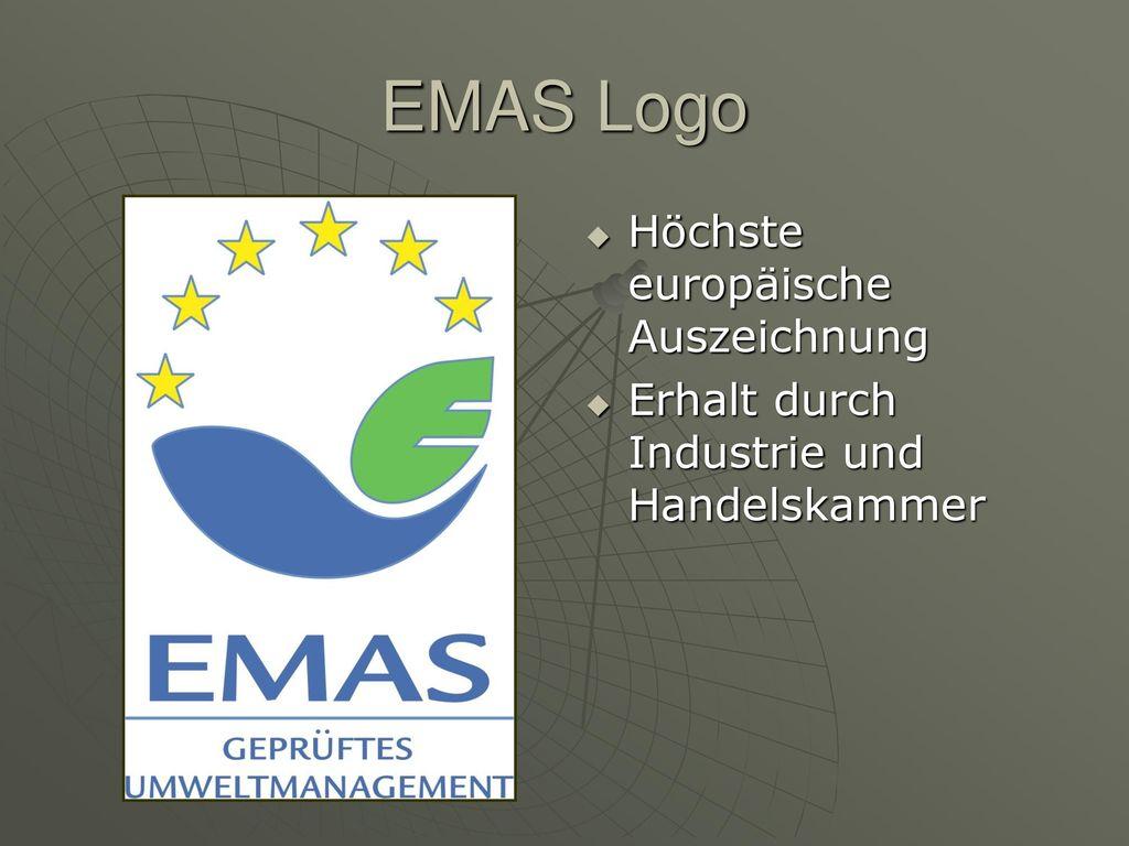 EMAS Logo Höchste europäische Auszeichnung