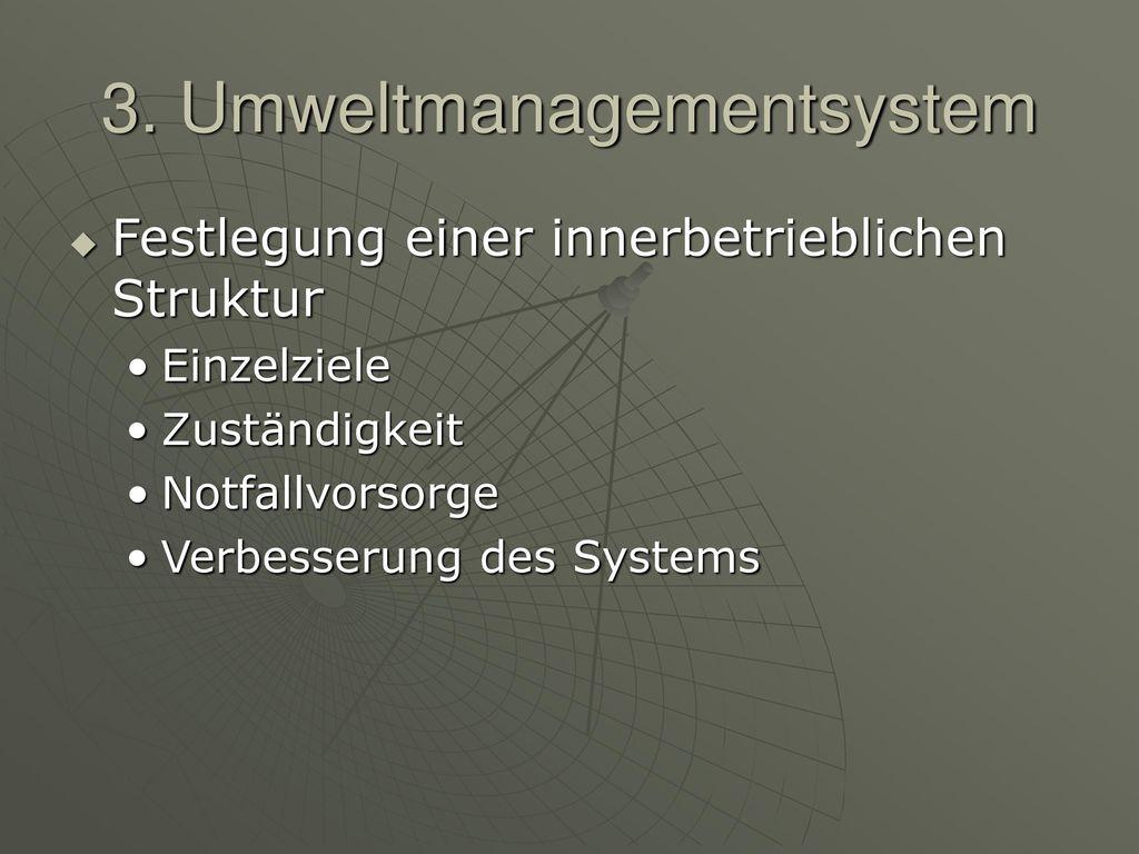 3. Umweltmanagementsystem
