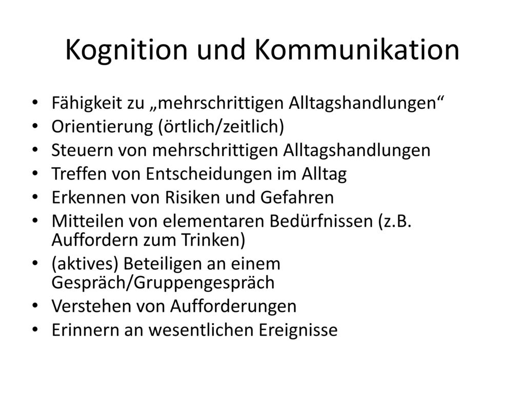 Kognition und Kommunikation
