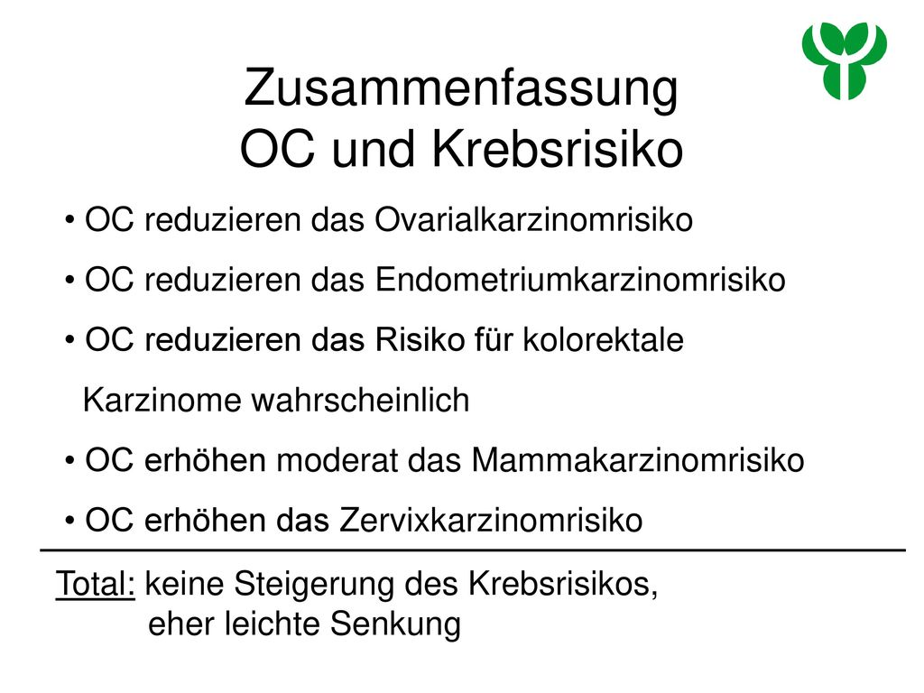 Zusammenfassung OC und Krebsrisiko