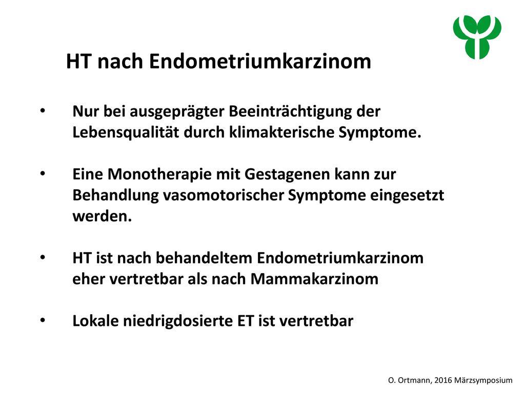 HT nach Endometriumkarzinom