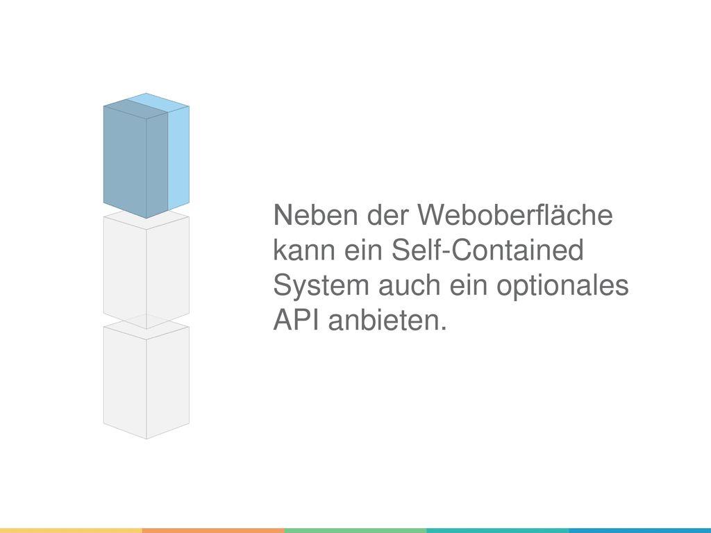 Neben der Weboberfläche kann ein Self-Contained System auch ein optionales API anbieten.