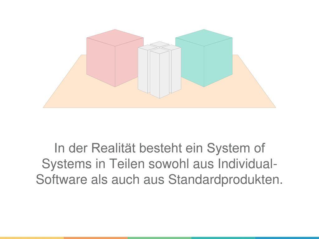 In der Realität besteht ein System of Systems in Teilen sowohl aus Individual- Software als auch aus Standardprodukten.