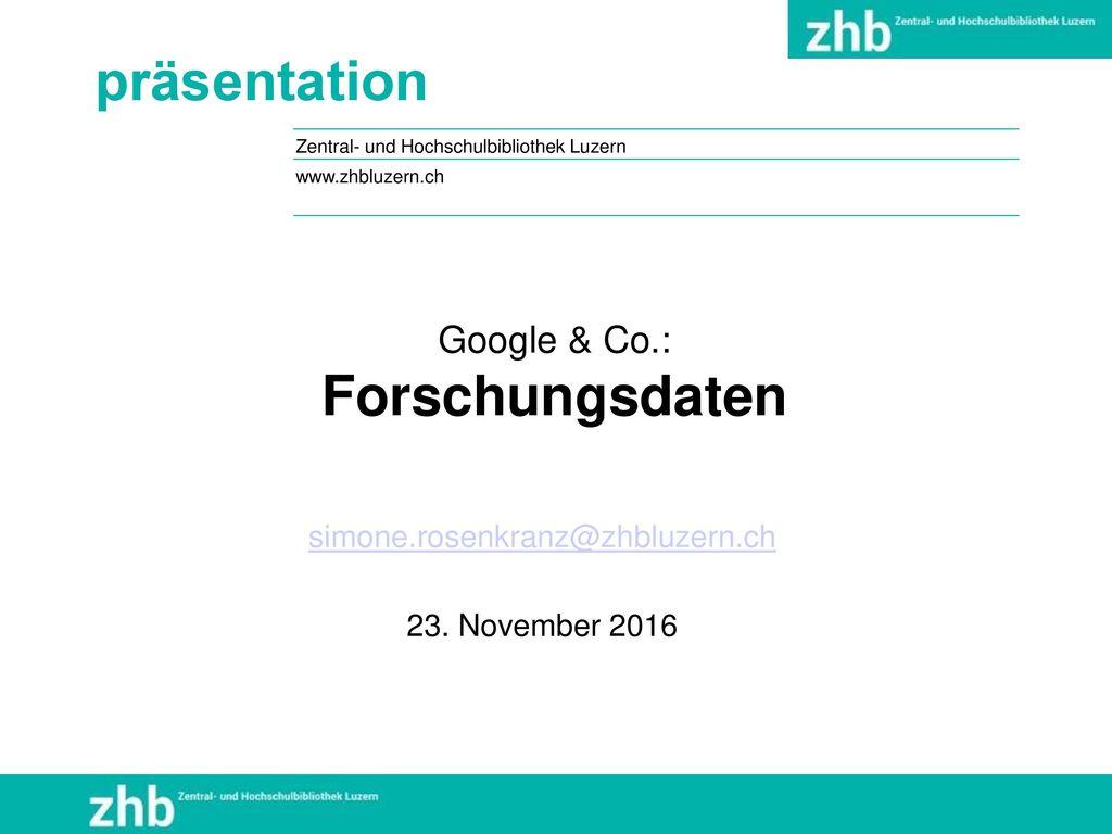 Google & Co.: Forschungsdaten