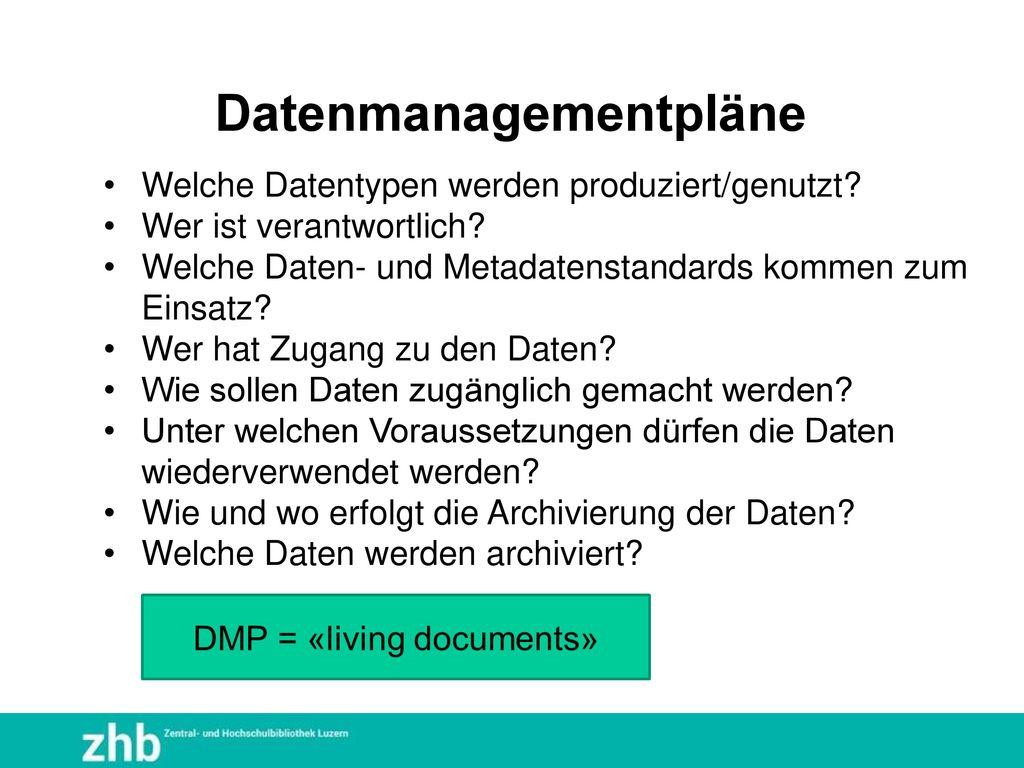 Datenmanagementpläne