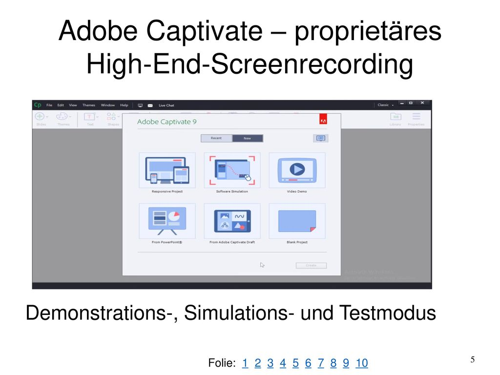 Adobe Captivate – proprietäres High-End-Screenrecording
