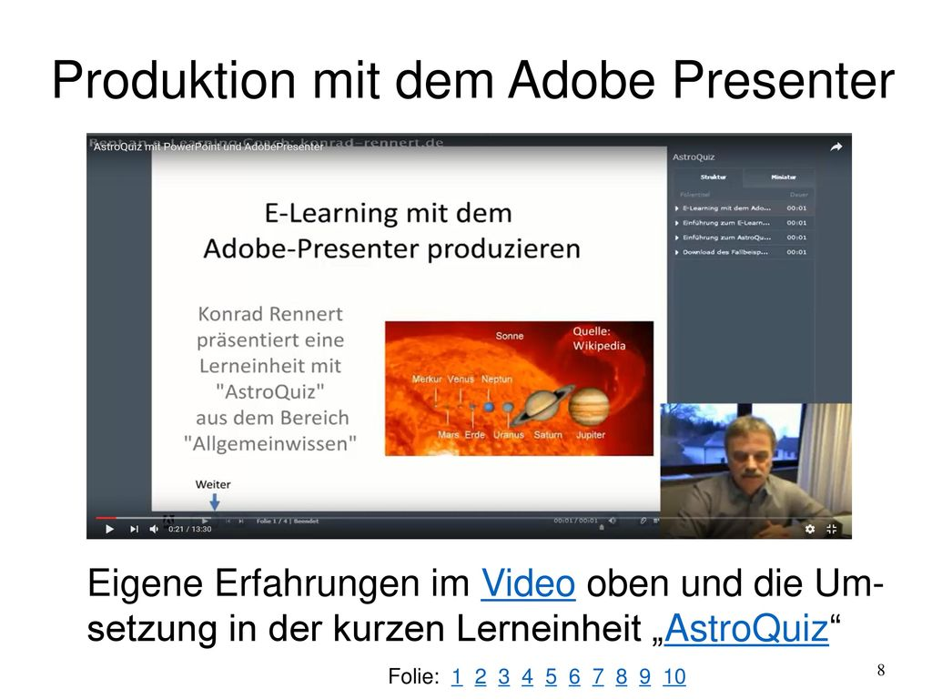 Produktion mit dem Adobe Presenter