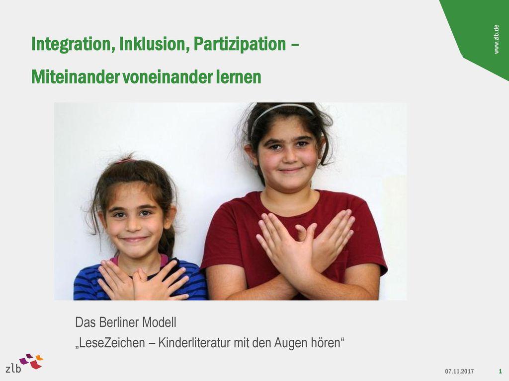 Integration, Inklusion, Partizipation – Miteinander voneinander lernen