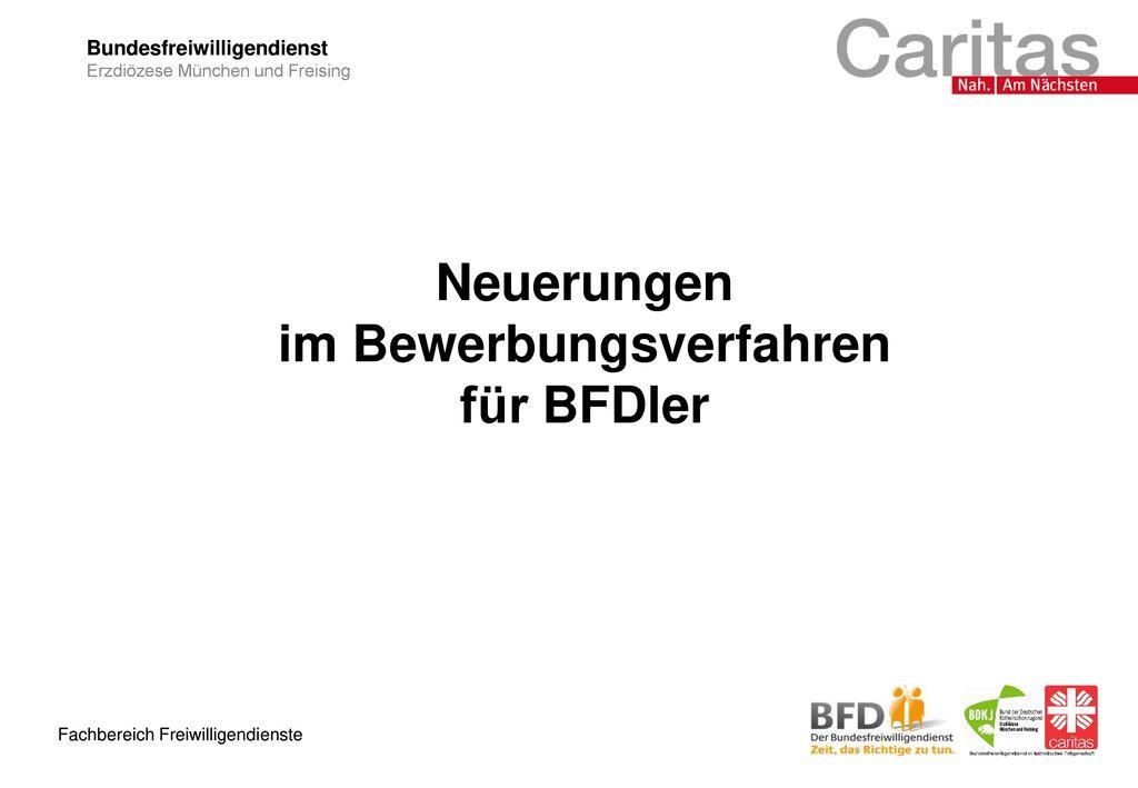 Neuerungen im Bewerbungsverfahren für BFDler