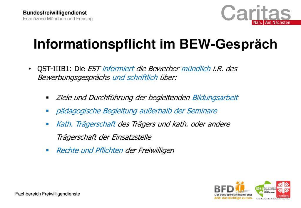 Informationspflicht im BEW-Gespräch
