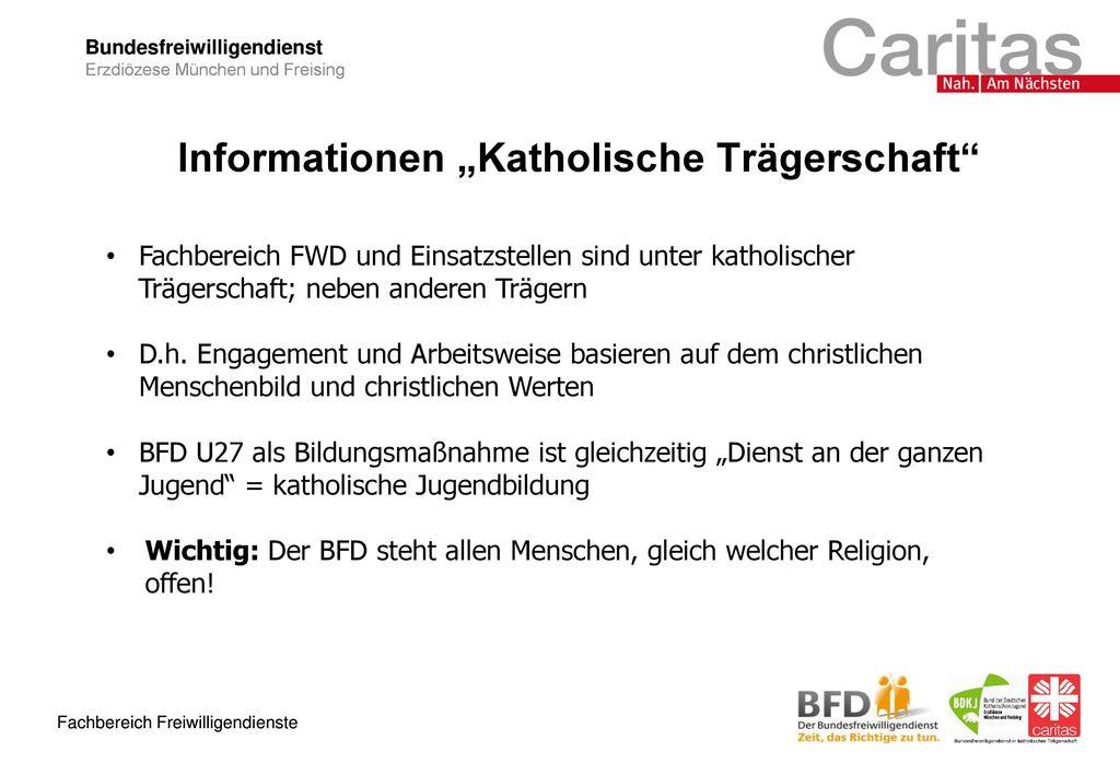 """Informationen """"Katholische Trägerschaft"""