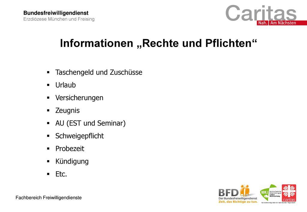 """Informationen """"Rechte und Pflichten"""