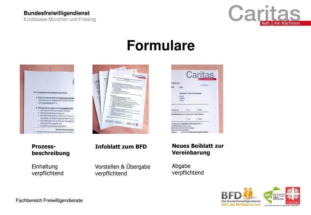 Formulare Prozess-beschreibung Infoblatt zum BFD