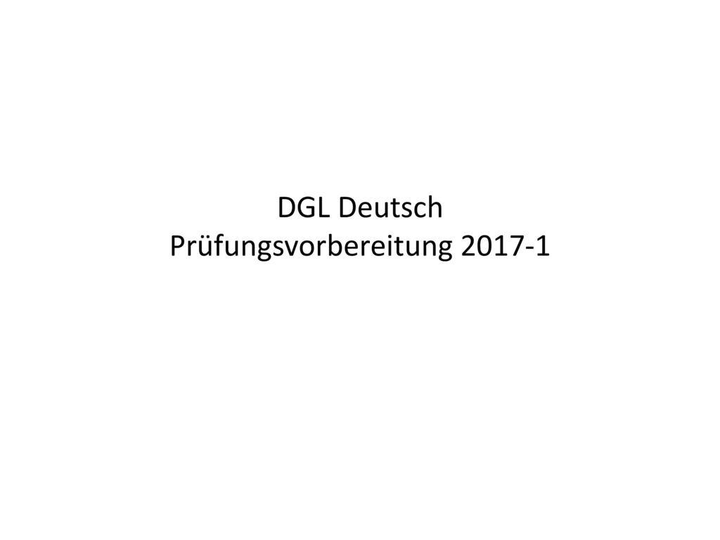DGL Deutsch Prüfungsvorbereitung 2017-1