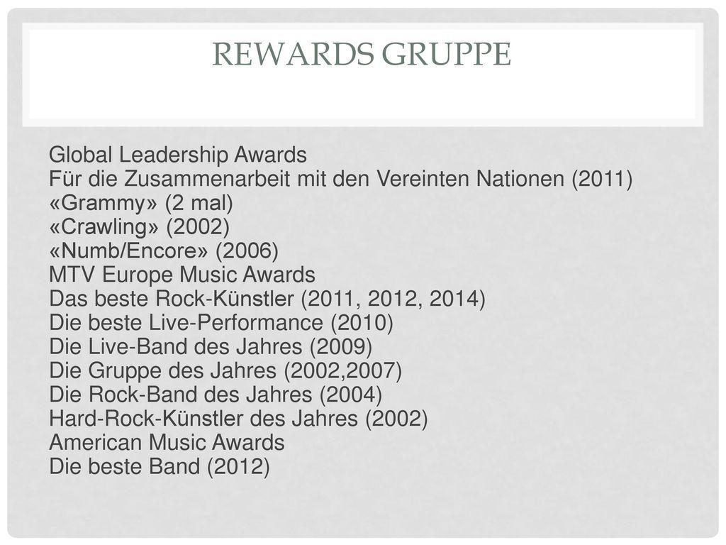 Rewards Gruppe