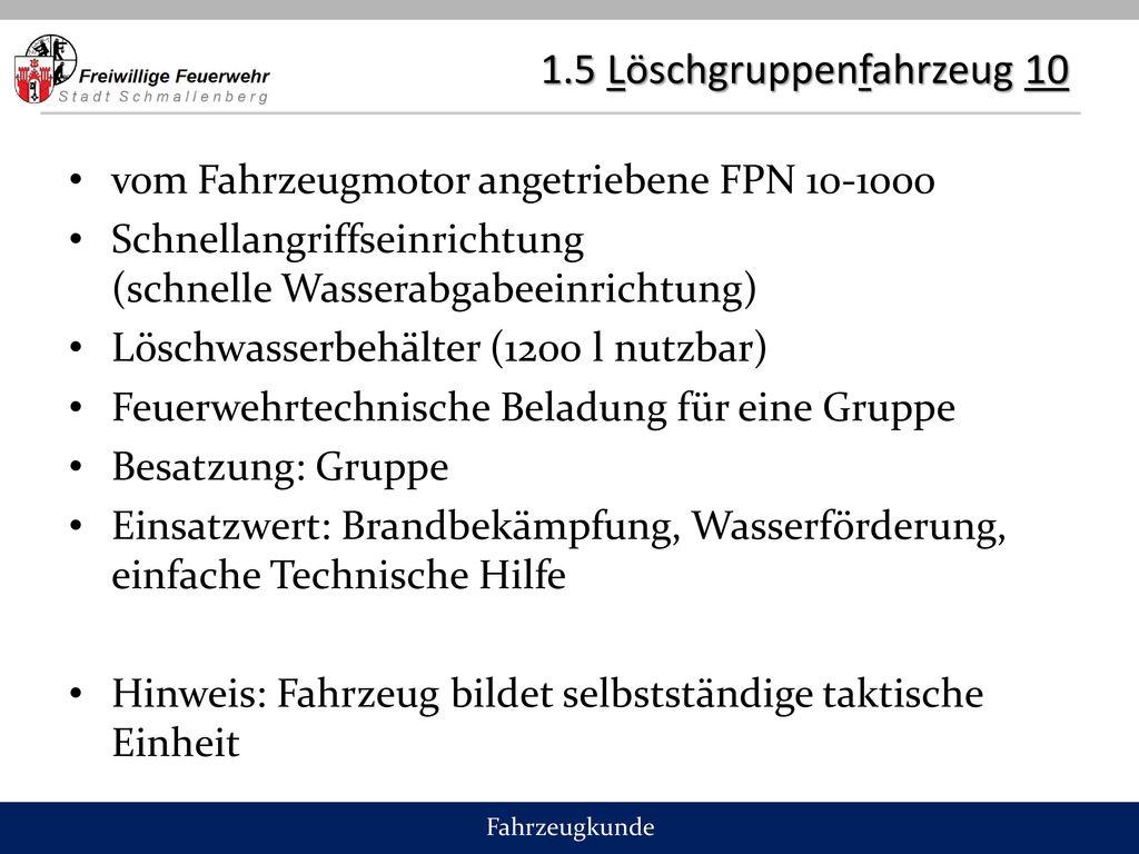 1.5 Löschgruppenfahrzeug 10