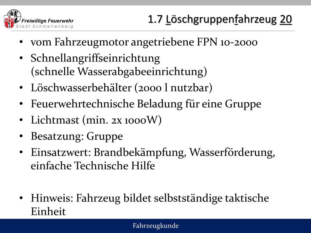 1.7 Löschgruppenfahrzeug 20