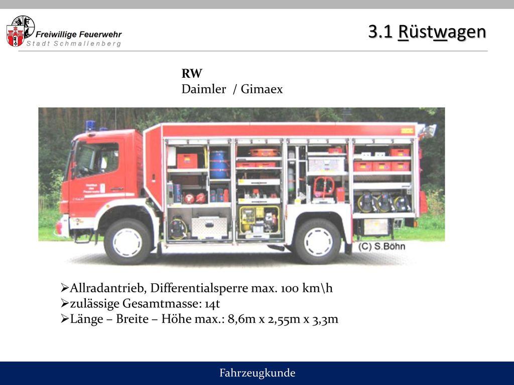 3.1 Rüstwagen RW Daimler / Gimaex