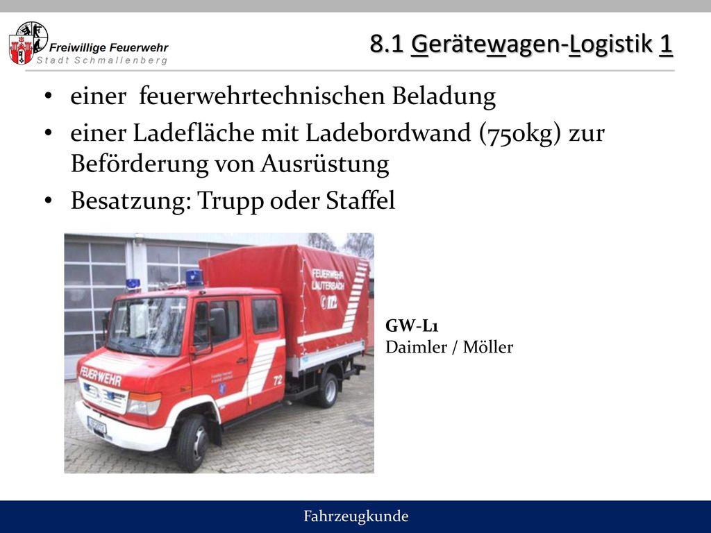 8.1 Gerätewagen-Logistik 1