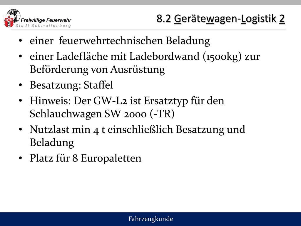 8.2 Gerätewagen-Logistik 2