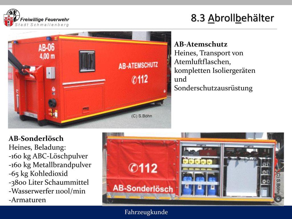 8.3 Abrollbehälter AB-Atemschutz