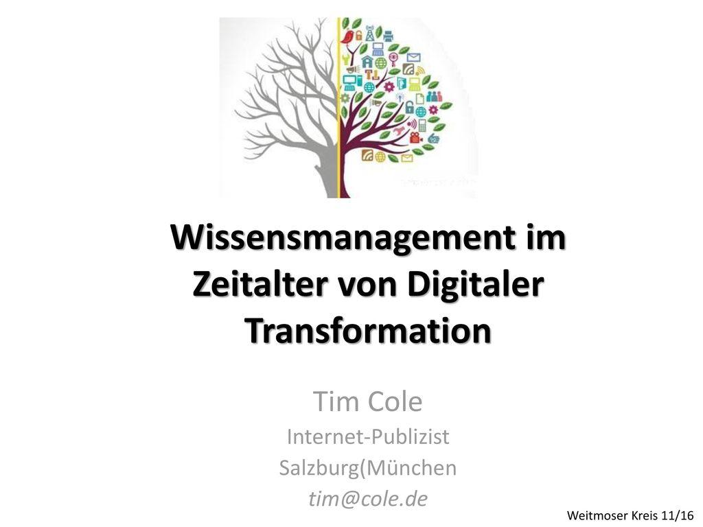 Wissensmanagement im Zeitalter von Digitaler Transformation
