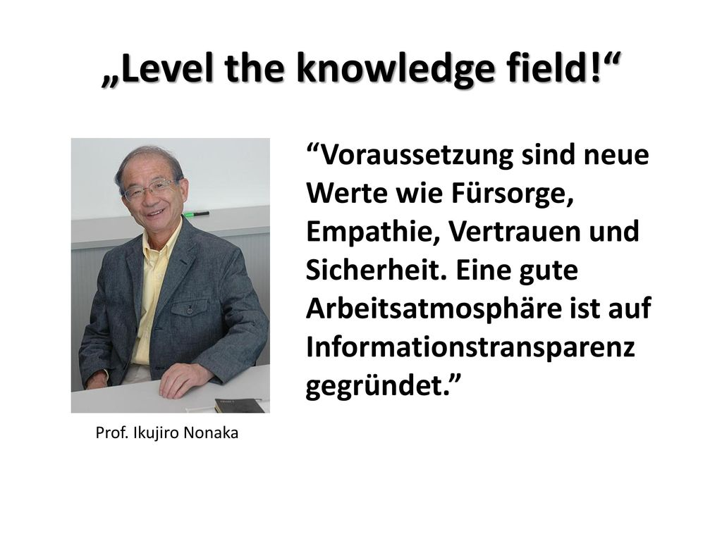 """""""Level the knowledge field!"""