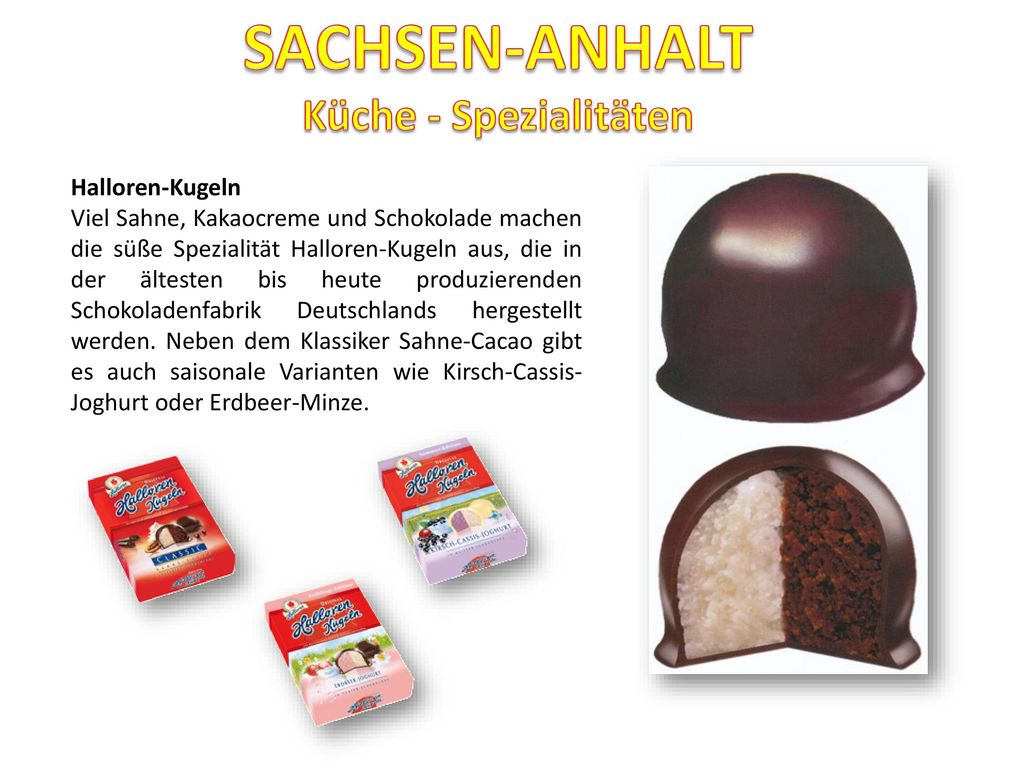 SACHSEN-ANHALT Küche - Spezialitäten