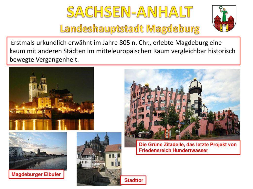 SACHSEN-ANHALT Landeshauptstadt Magdeburg