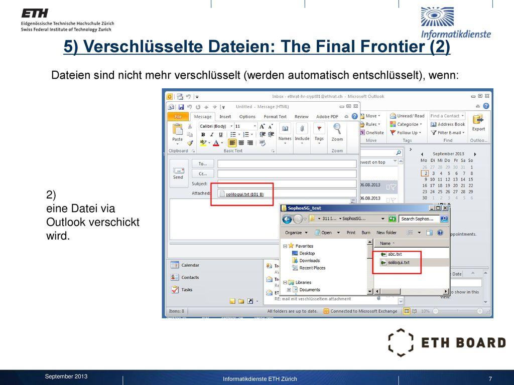 5) Verschlüsselte Dateien: The Final Frontier (2)