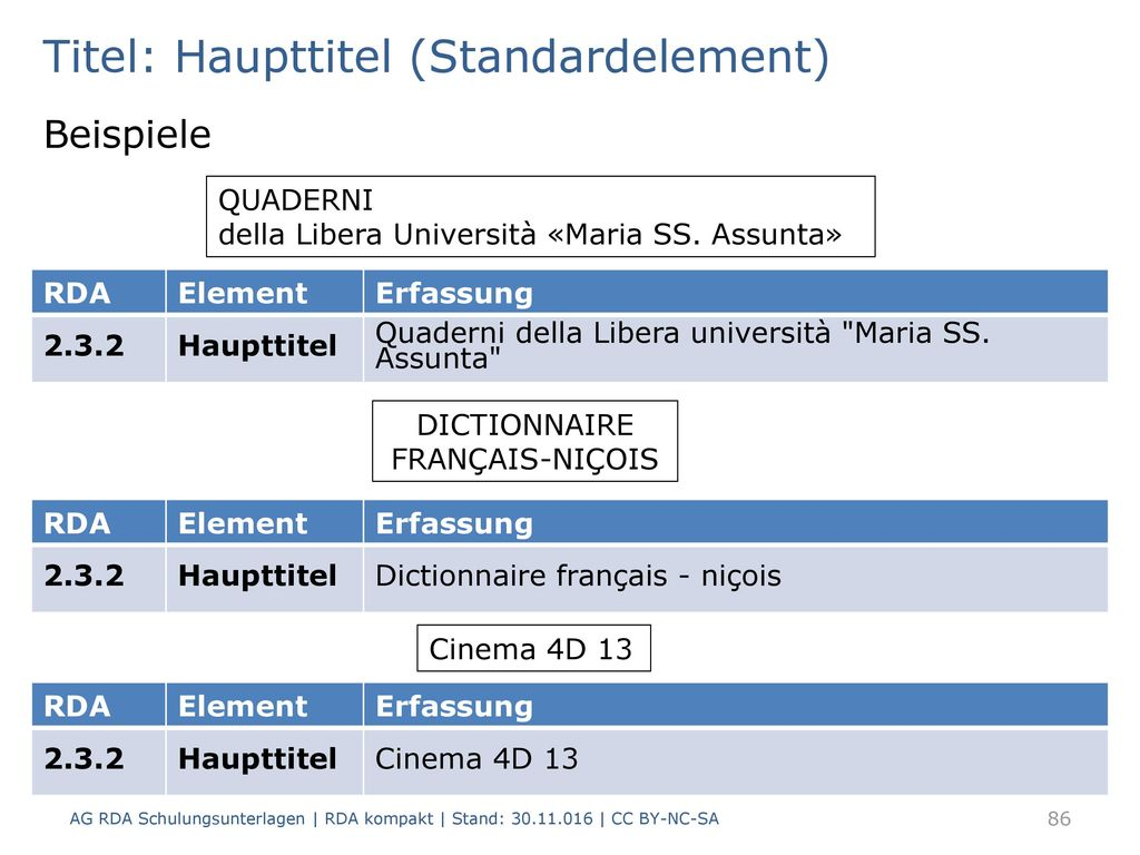 Titel: Haupttitel (Standardelement)