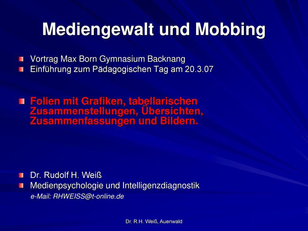 Mediengewalt und Mobbing