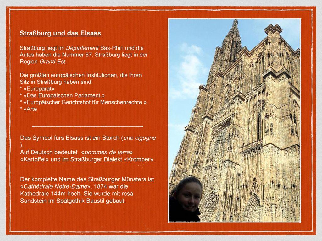 Straßburg und das Elsass
