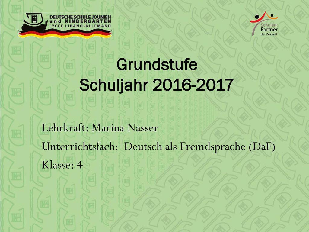 Grundstufe Schuljahr 2016-2017