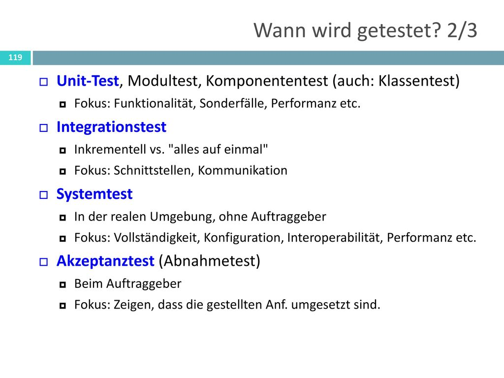 Nicht-funktionale Tests