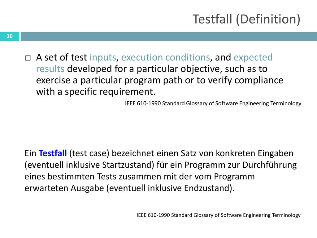 Testfall (Definition)